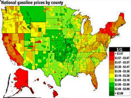 which state has the lowest cost of living gas prices across the us map us map by cost of living gas price