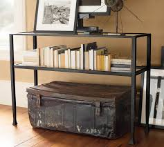 Entryway Tables And Consoles Tanner Console Table Bronze Finish Pottery Barn