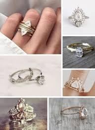 boho wedding ring stacking wedding rings