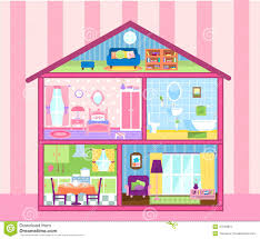 Free Doll House Design Plans by Interior Designs Clipart Doll House Pencil And In Color Interior