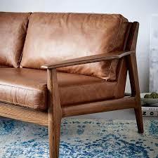 Leather And Wood Sofa Wondrous Wood And Leather Sofa Photos Gradfly Co