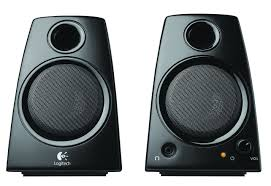 amazon com logitech 3 5mm jack compact laptop speakers black