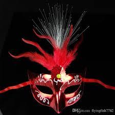 mardi gras decorations wholesale masquerade masks mardi gras led luminous feather beauty masks