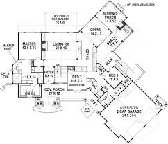 ranch rustic floor plan mountain house plans