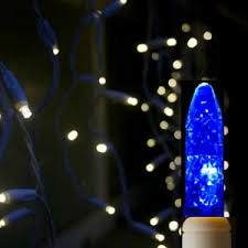 m5 led icicle lights blue on white wire