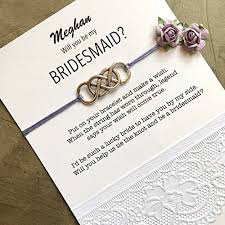 personalized cards wedding will you be my bridesmaid gifts custom bracelets on
