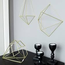 umbra prisma matte brass wall decor from flamingo gifts