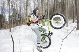snow motocross bike riding fatbikes in the snow electricbike blog com