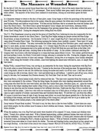 expansion the massacre at wounded knee primary source reading