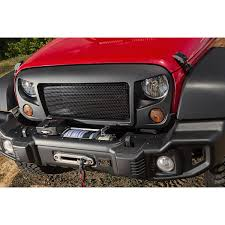 jeep winch bumper rugged ridge 11544 65 spartacus bumper kit w winch plate 07 16