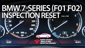 bmw how to reset service indicator bmw f01 f02 service reset 7 series inspection mr fix info