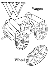 w colouring pages wagon and wheel free alphabet coloring pages