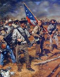 Confederate Battle Flag Meaning Confederate Soldiers Of Tennessee American Civil War Art