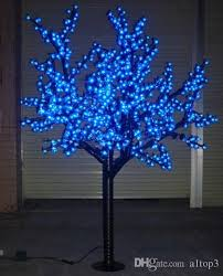 2018 free ship 1 8m 6ft blue led cherry blossom tree outdoor