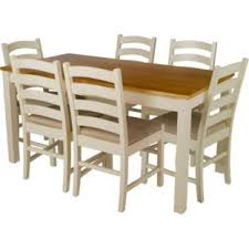 argos kitchen furniture buy living haversham pine dining table and 6 upholstered chairs at