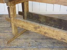 Antique Woodworking Benches Sale by Antique Industrial Work Bench With Two Vices And Shelf