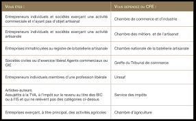 cfe chambre des metiers formalités cabinet d expertise comptable
