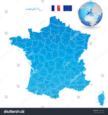France Regions Map by High Detail Vector Map France Regions Stock Vector 300625049