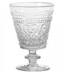 bicchieri a calice set di 6 bicchieri da vino in vetro trasparente linea provenzale