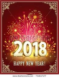 new year s postcards postcard happy new year 2018 against stock vector 734647477