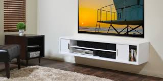 Tv Cabinet Wall Mounted Wood Long Wood Wall Mounted Media Shelf And Cabinet Tv Stand Decofurnish