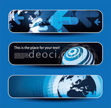 free 3 modern technology the earth banner background design