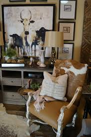 furniture rustic cowhide chairs for traditional family room