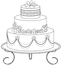coloring pages wedding cakes decorate coloring