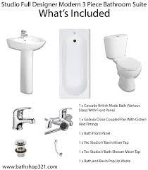 Bath Shower Fittings Studio Full Designer Modern Bathroom Suite Bathshop321