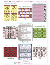 frequency adverbs expressions 7 game 2 worksheet bundle esl fun games
