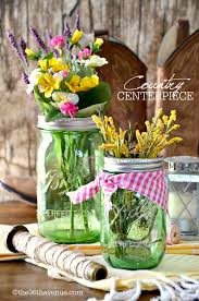 Mason Jar Arrangements Mason Jar Crafts Country Centerpiece The 36th Avenue