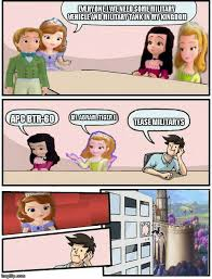 Boardroom Meeting Meme - sofia the first boardroom meeting suggestion know your meme