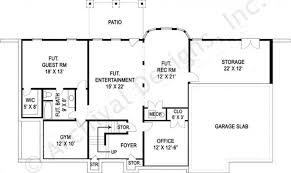 house plan with basement trumbauer traditional floor plans daylight basement plan