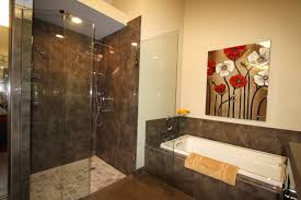 master bathroom remodel with cabins of glass bathroom designs