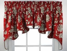 Red Scarf Valance Windows Red Valances For Windows Designs Window Treatments Valance