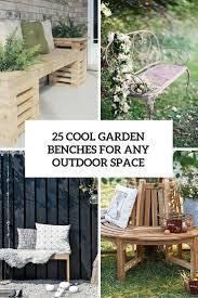 Cool Garden Bench Garden Furniture Archives Gardenoholic