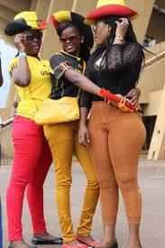 Uganda Flag Colours Photos Fans U0027 Day Out As Cranes Thumps Ghana Chimpreports