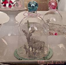 wine glass snow globes pink studio tuesday tutorial a more vintage kitsch