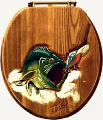 themed toilet seats bass fish fishing lure toilet seat for log cabins log homes and