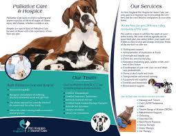 serious upmarket flyer design for new england pet hospice inc