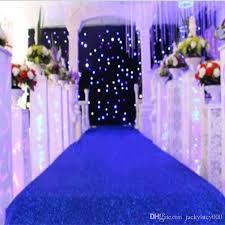 theme wedding decor 10 mdark blue theme wedding decoration pearlescent carpet aisle