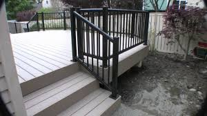 Paver Ideas For Patio by Flooring Wheat Azek Pavers Matched With Black Railing For Patio