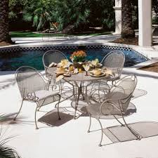 Wrought Iron Patio Dining Set - cast iron patio furniture the affordable patio furniture