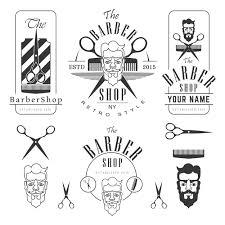 set of vintage barber shop elements creativework247 graphics