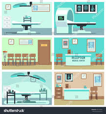 empty hospital doctor office surgery room stock vector 531470362