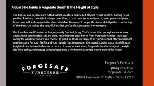 Gun Safe Bench Forgesafe Furniture U0027s Bench Gun Safes Are The Height Of Gun