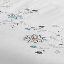 Embroidered Duvet Cover Sets Riva Home Marissa Floral Embroidered Duvet Cover Set Ebay
