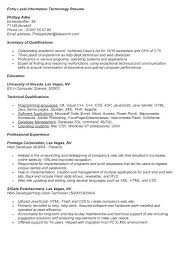 resume format information technology entry level information technology resume 2119 bkk2lax com