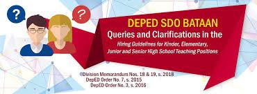 id s d o chambre b deped sdo bataan hiring of teachers