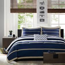 Khaki And White Bedroom Amazon Com Mi Zone Ashton Comforter Set Navy Full Queen